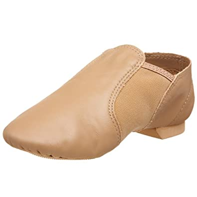 Girl's Capezio E-Series Jazz Slip On Shoes TAN 1 W