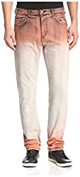 Versace Jeans Men's EA2GIB0TA-EHED8R-E529 Ombre Slim Jeans, Arancio Smash, 30 US