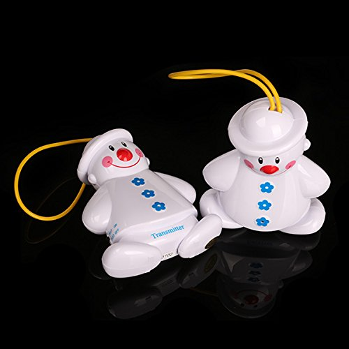 Generic Lovely Twin Snowmen Wireless Baby Cry Detector Monitor Watcher Alarm front-307030