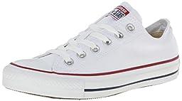 Converse Men\'s All Star Chuck Taylor M7652 Optical White M7652 Canvas Lo Ox - MEN 4.5 M US / WOMEN 6.5 US