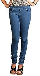 Fashion Stylus Women's Jeggings (FST-604-28, Blue, 28)