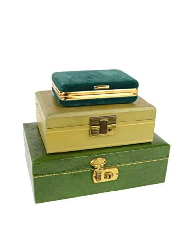Uptown Down 1970 Set of 3 Jewelry Boxes, Multi
