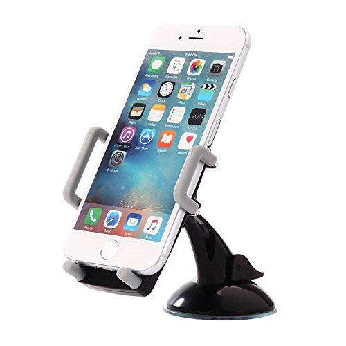 Supporto auto cellulare, Gaoye 360 gradi rotazione parabrezza cruscotto auto accessori auto telefono titolare supporto per iPhone Samsung HTC Moto Sony Gps supporto (Cruscotto Grigio)