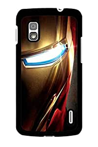 Caseque Iron Man Back Shell Case Cover for Google Nexus 4