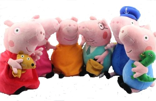 Toys For Mom And Dad : Fcollection peppa pig family plush doll toys includes