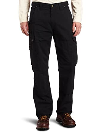 Carhartt Men's Cotton Ripstop Pant B342, Black, 30x30