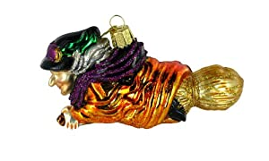 Old World Christmas Witch on Broomstick Ornament