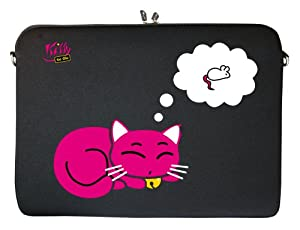 """KITTY TO GO LS143-13 Designer MacBook Sleeve 13.3"""" Laptop Notebook Netbook Tablet Cover neoprene soft carry case up to 13.3 inch Anti Shock System"""