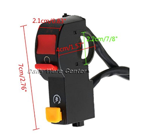 7/8 Inch Motorcycle Dirt Bike Handlebar Switch Engine Stop Electrical Start Right Switch Scooter ON/OFF Button Headlight Switch (Fz6 Air Filter compare prices)