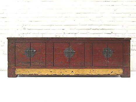 China Mongolia{1860} plana aparador mueble para TV Pantalla Plana de pino{3} doble puertas herrajes metálicos de Luxury-Park