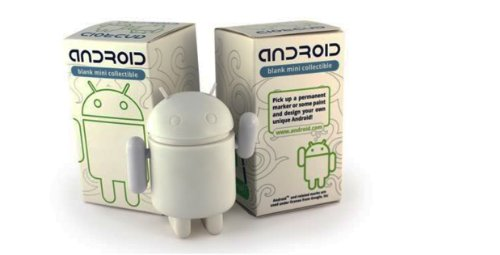 "Android Mini Collectible Figure 3"" - Blank/White for DIY Android Robot"