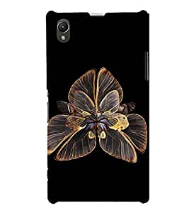 EPICCASE flower of butterfly Mobile Back Case Cover For Sony Xperia Z1 (Designer Case)