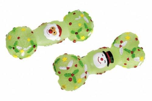 Hundeknochen mit Nikolaus und Schneemann