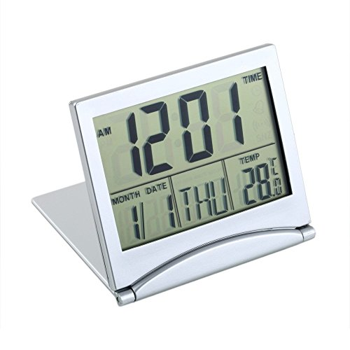 1pcs Calendar Alarm Clock Display date time temperature flexible mini Desk Digital LCD Thermometer cover Hot Search (Sharp Alarm Clock Outlets compare prices)