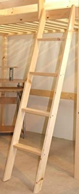 Pine Bunkbed Ladder - Bunk Bed Slanted Ladder Solid Pine