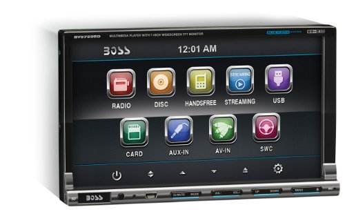BOSS Audio BV9759BD In-Dash Double-Din 7-inch Motorized Detachable Touchscreen DVD/CD/USB/SD/MP4/MP3 Player Receiver Bluetooth Streaming Bluetooth Hands-free with Remote