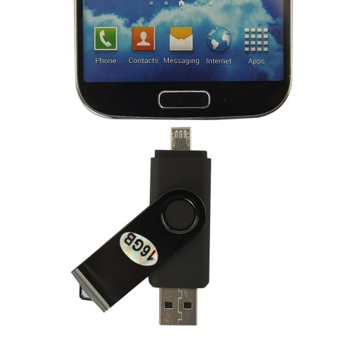 Dbpower(Us Seller) 16Gb New U-Disk V2.0 Micro Usb Flash Drive For Andorid Smartphone Samsung Galaxy S4 S3 S2 Samsung I9500 I9300 Tablet Pc Black