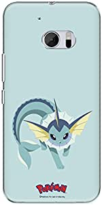 The Racoon Lean printed designer hard back mobile phone case cover for HTC 10. (vaporeon)