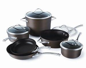 Calphalon Contemporary 10-Piece Bronze Anodized Edition Nonstick Cookware Set