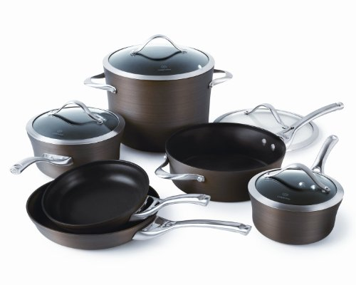Calphalon Contemporary 10-Piece Bronze Anodized Edition Nonstick Cookware Set