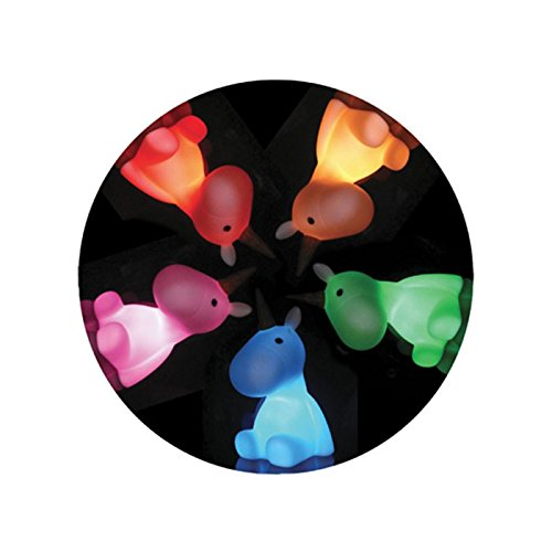 Veilleuse-Licorne-Blanche-Arc-en-Ciel-Multicolore