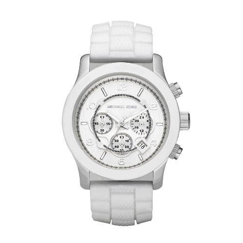 Michael Kors White MK8179 Stainless Steel Case White Plastic Men's & Women's Quartz Watch