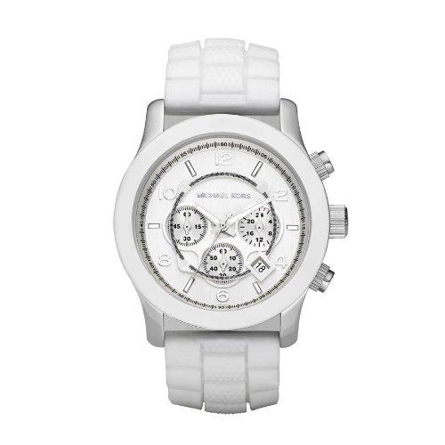 Michael Kors White MK8179 Stainless Steel Case White Plastic Men's & Women's Quartz Watch