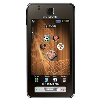 Samsung Behold T919 Unlocked Quadband Phone with 3G Support, GPS and 5MP Camera - US Warranty - Brushed Espresso