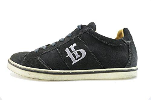 BOTTICELLI sneakers uomo grigio camoscio AG52