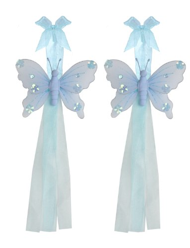 Butterfly Tiebacks Blue Jewel Nylon Butterflies Tieback Pair / Set Decorations. Window Curtains Holder Drapery Holders Tie Backs To Decorate A Baby Nursery Bedroom, Girls Room Wall Decor, Wedding Birthday Party, Bridal Baby Shower, Bathroom, Curtain Decor front-988874