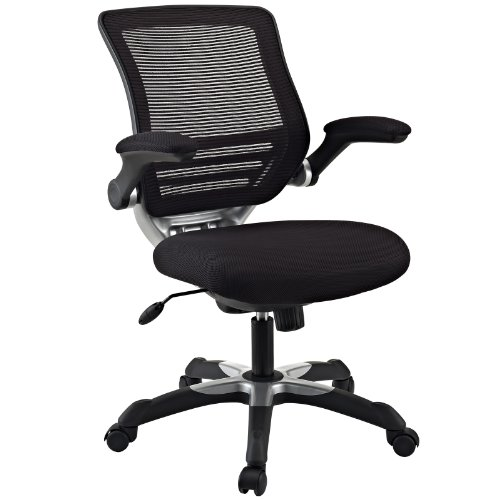LexMod Edge Office Chair with Black Mesh Back and Mesh Fabric Seat