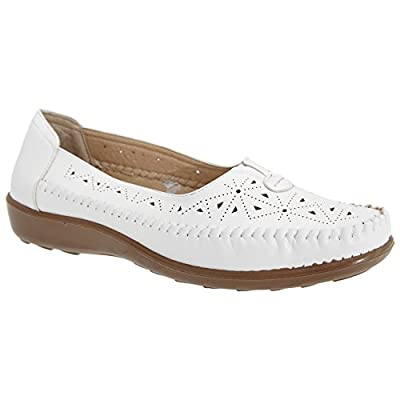 Boulevard Womens/Ladies Centre Gusset Summer Casual Shoes
