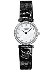 Longines La Grand Classic Ultra Thin MOP Dial Diamond Markers Diamond Bezel Women's Watch
