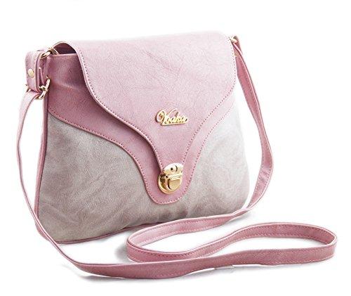 e4e0d15ae09c Buy Voaka Women's Pink Sling Bag on Amazon | PaisaWapas.com