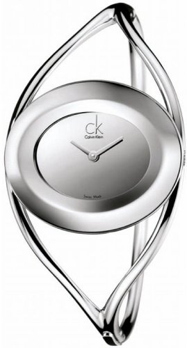Calvin Klein Women's Delight K1A23508 Silver Stainless-Steel Quartz Watch with Silver Dial