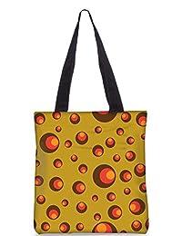 Snoogg Colorful Circles Digitally Printed Utility Tote Bag Handbag Made Of Poly Canvas