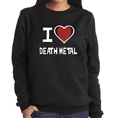 Felpa da Donna I love Death Metal