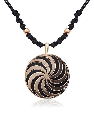 PHILIPPE VANDIER Colgante Espiral Dorado / Negro
