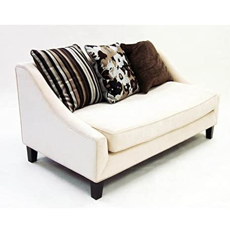 Armen Living Barclay Loveseat in Cream
