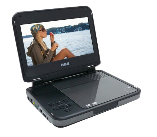 RCA DRC6338 Portable DVD Player with 8-Inch LCD Screen (Red/Black)