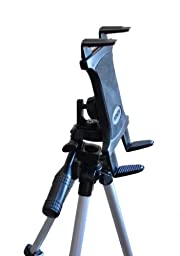 Tripod or Monopod Mounting Accessory for Tablets including Apple iPad, iPad 2, iPad 3, iPad 4, iPad Air, Samsung Galaxy Tab. Samsung Galaxy Note and Others (Tripod or Monopod not included)