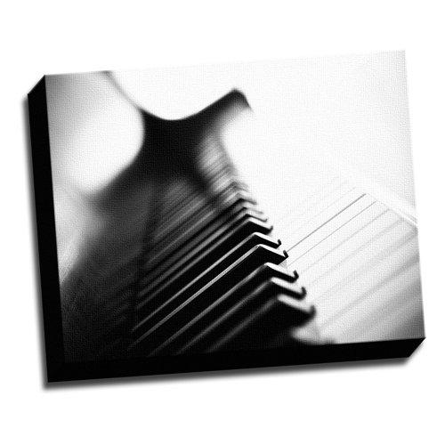 Piano Marcro Photo Canvas Wall Art