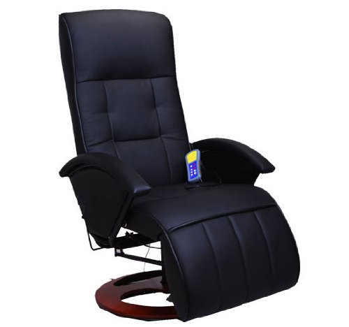 Reclining Massage Chair Synthetic Leather New
