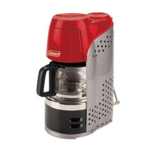 Coleman 10-Cup Portable Propane Coffeemaker with Burner, 5000 BTU