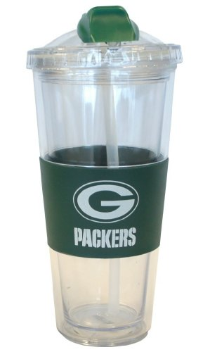 green bay packers spill straw
