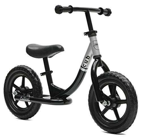 critical-cycles-cub-no-pedal-balance-bike-for-kids-black