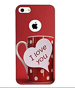 Case Cover Love & Kiss Printed Red Hard Back Cover For Apple Iphone 5/5S