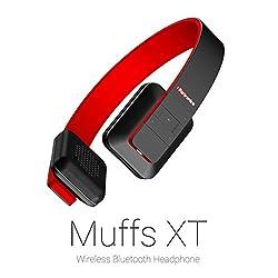 Portronics Muffs XT Wireless Bluetooth Headphone ( Red)