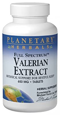 Planetary Herbals Full Spectrum Valerian Extract Tablets, 650 mg, 60 Count Bottle