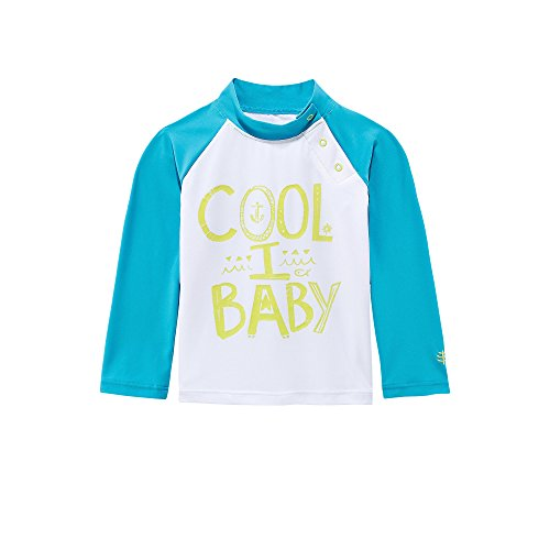 Coolibar UPF 50+ Baby Rash Guard – Sun Protective – UV Swimwear (6 Months – Coolibaby)